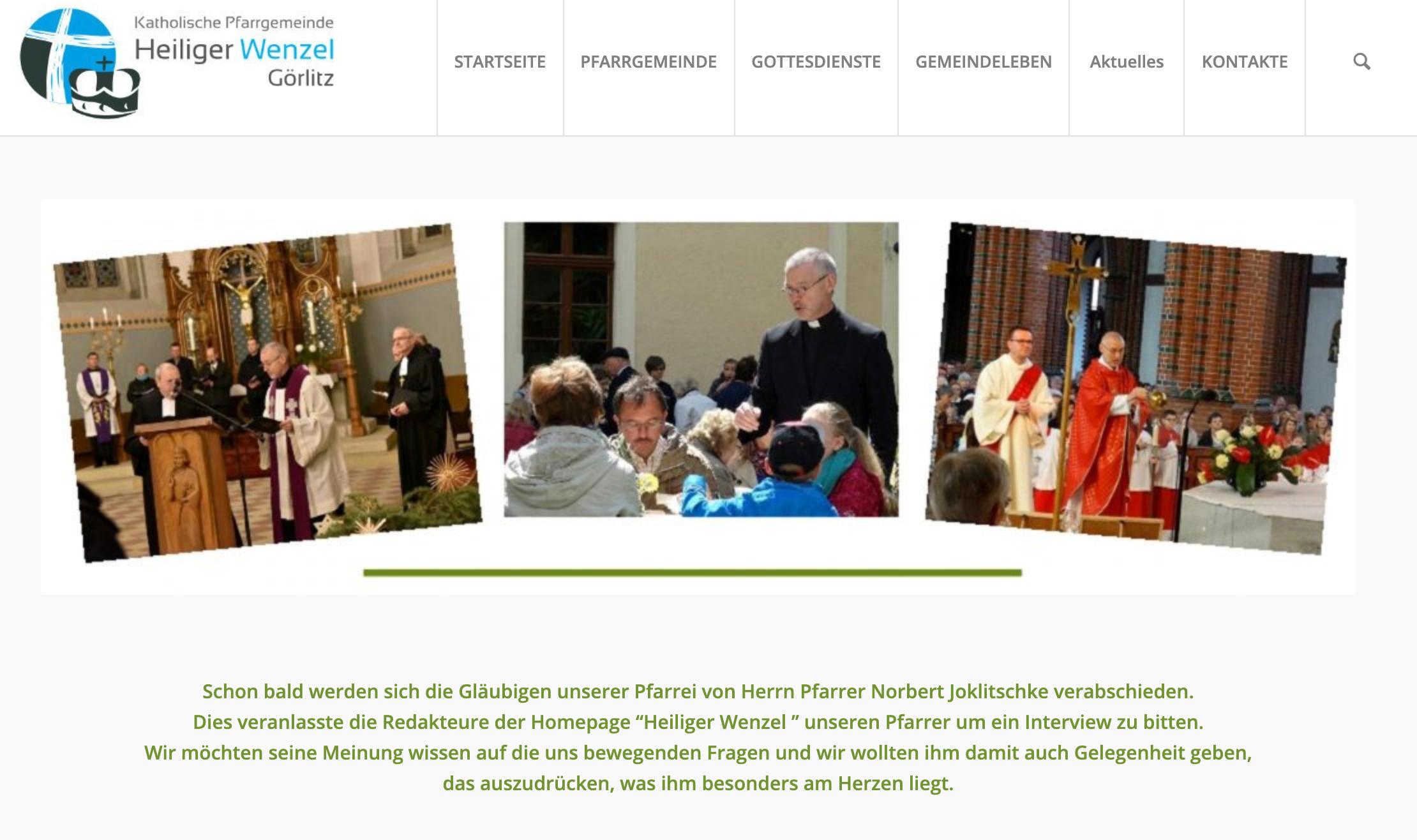 Interview Pfarrer Joklitschke