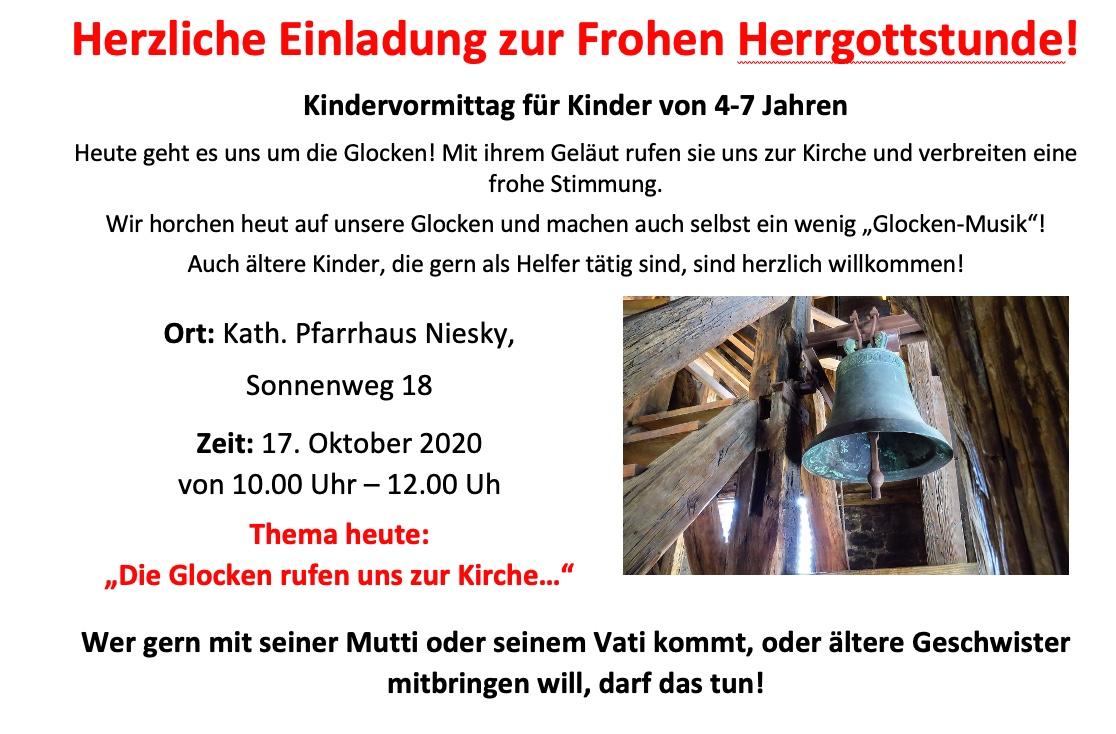Frohe Herrgottsstunde am 17.10.2020